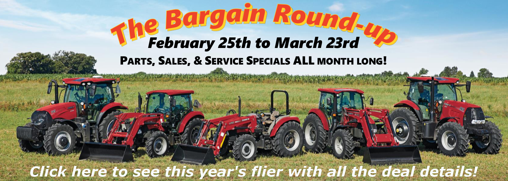 Website slide for Agricultural Sales Event