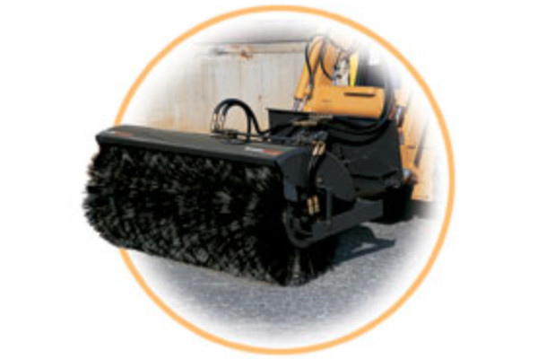 Woods | Skid Steer Attachments | Angle Brooms for sale at Hines Equipment, A full-service equipment dealer in Central Pennsylvania.